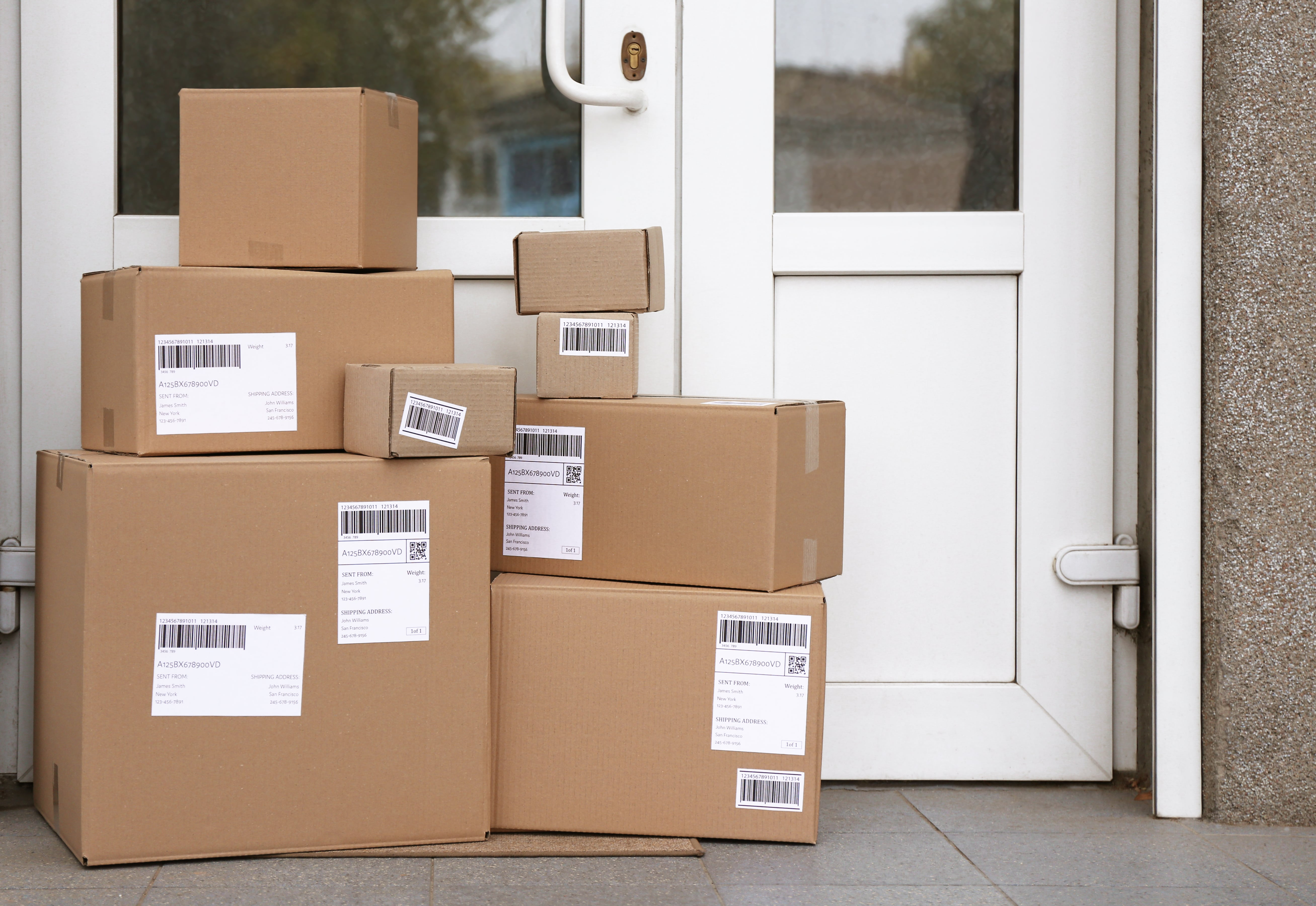 Packages, Delivered Parcels, At Home, Theft Prevention, Securing Your Home, Holidays, Christmas