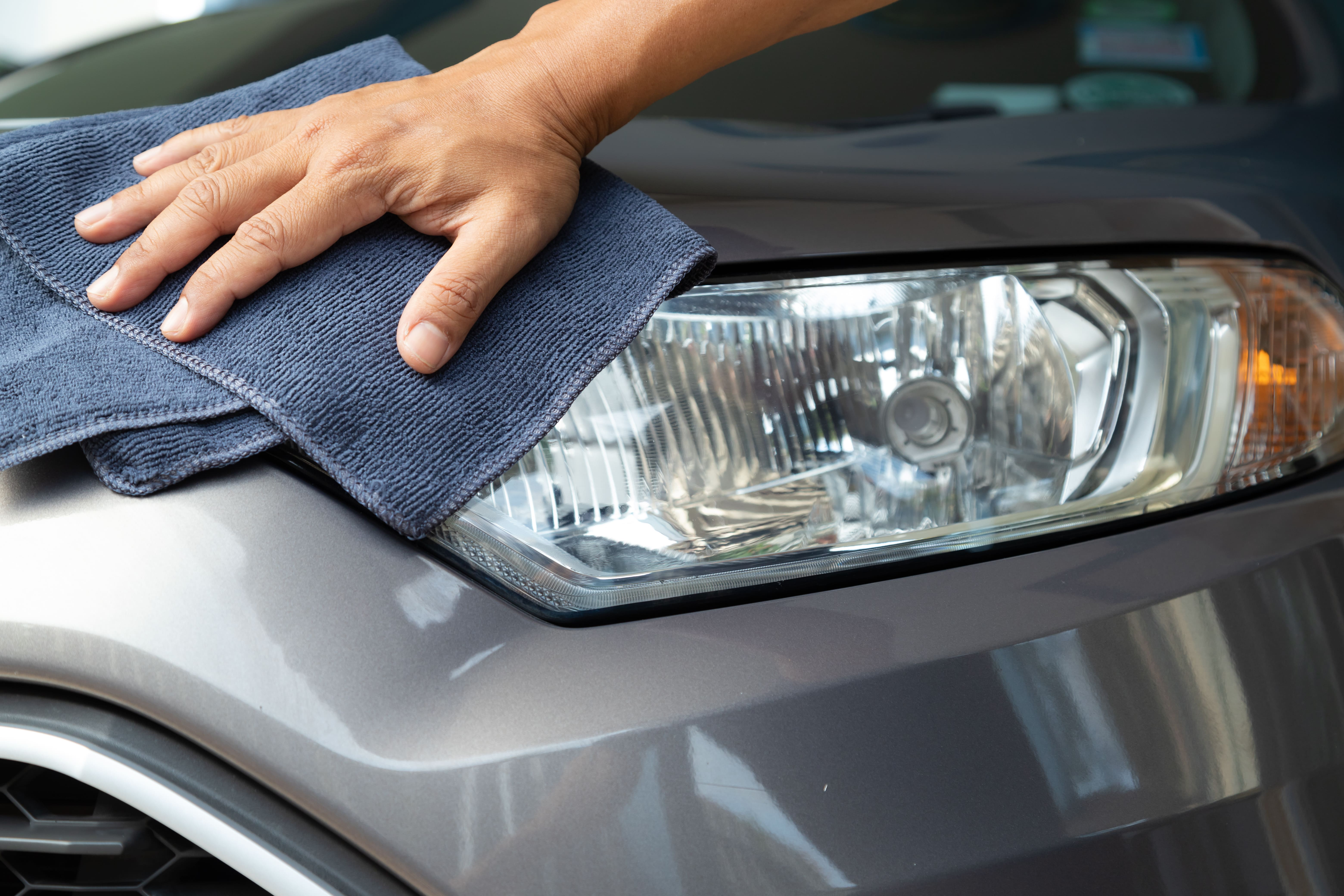 Headlights, Car Maintenance, Towel