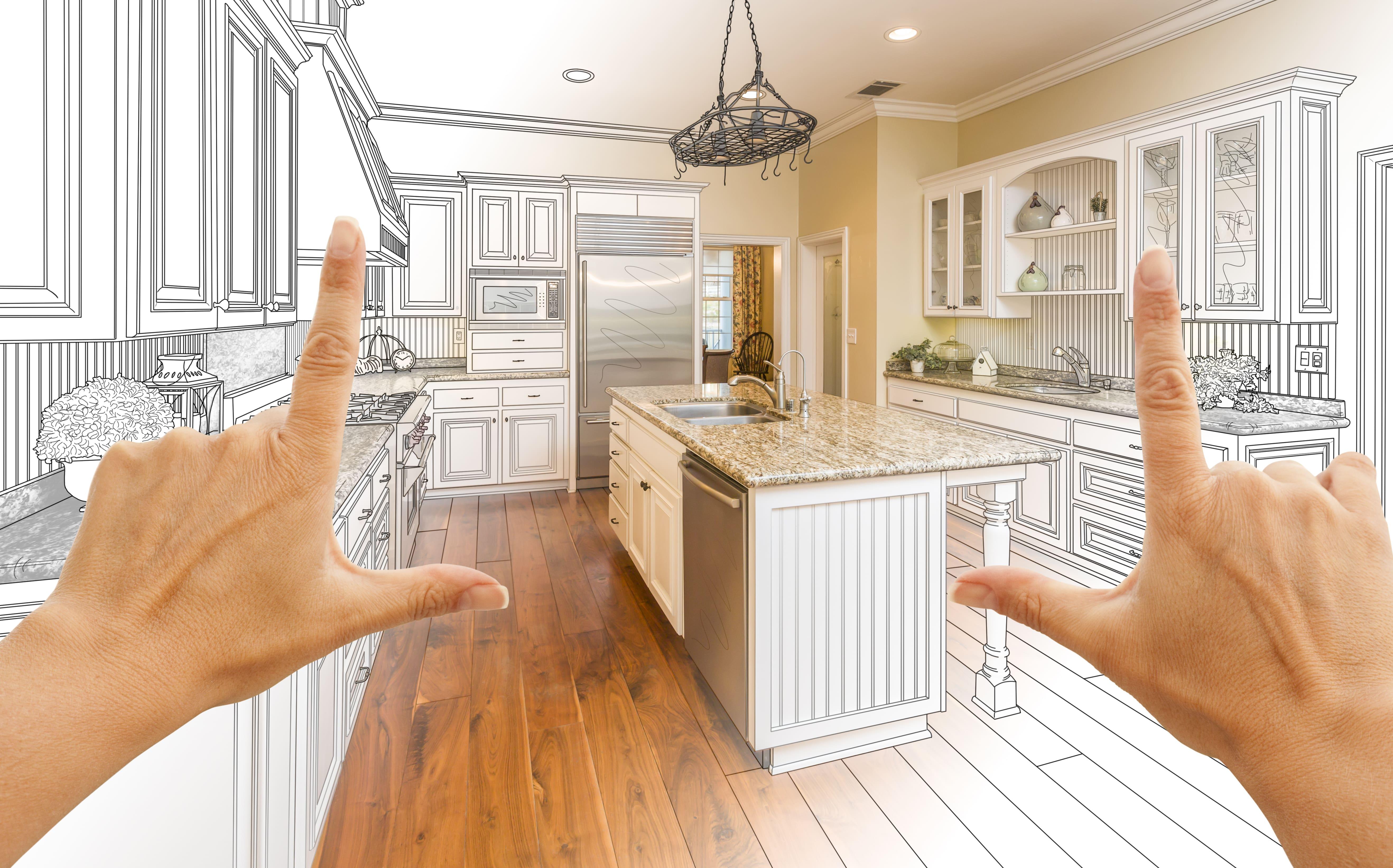 Kitchen Remodel, Kitchen Renovation, Kitchen Blueprint