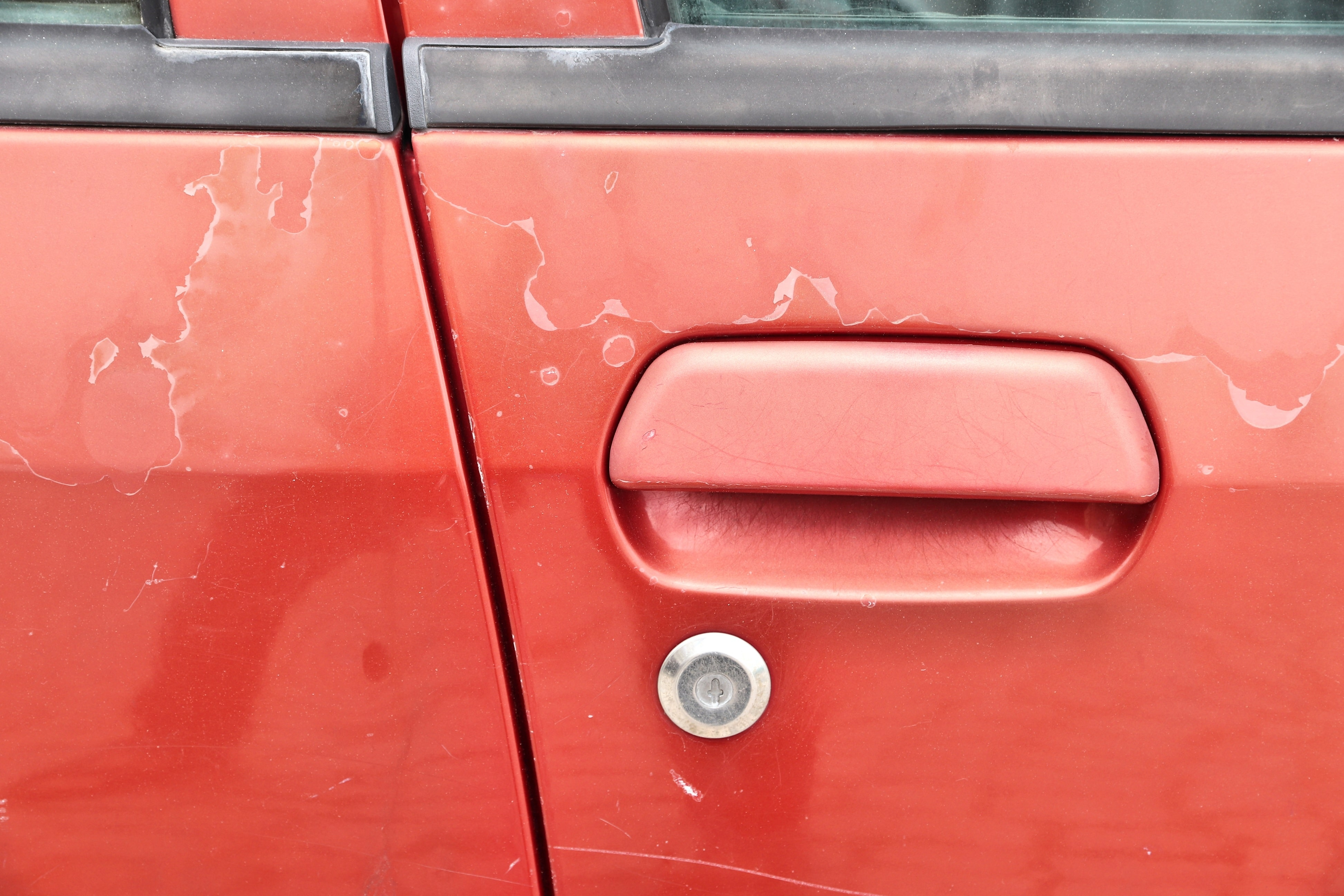 Peeling Car, Chipped Paint, Red, Sun Damage