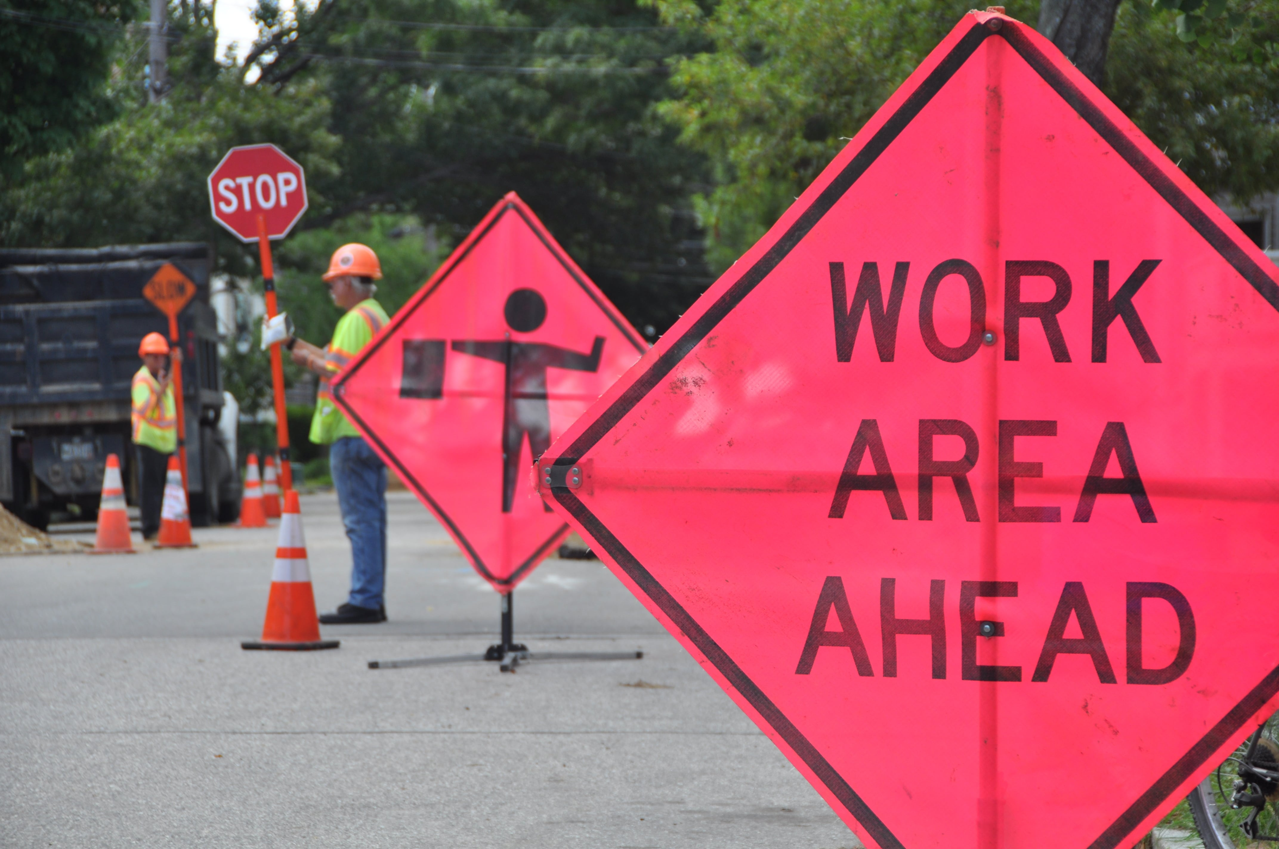 Work Zone, Construction, Construction Workers,