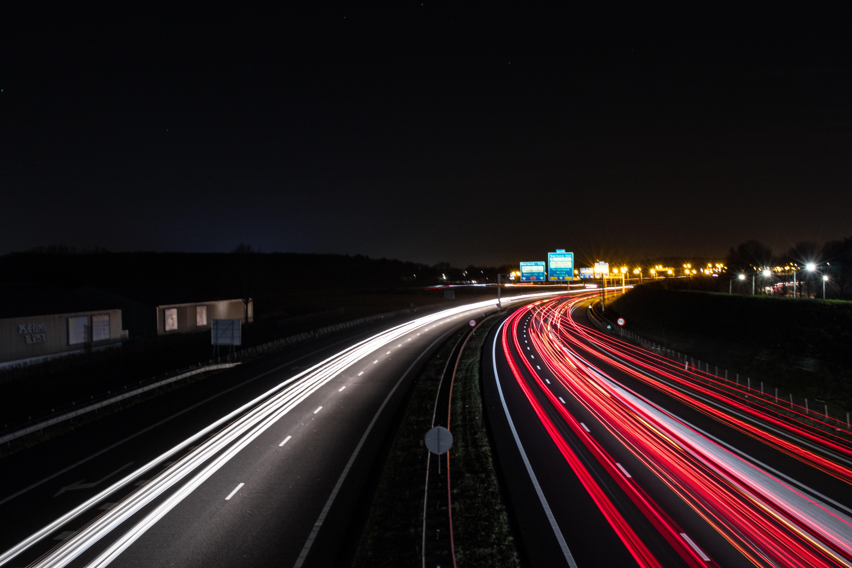 Nighttime Driving, Timelapse, Highway