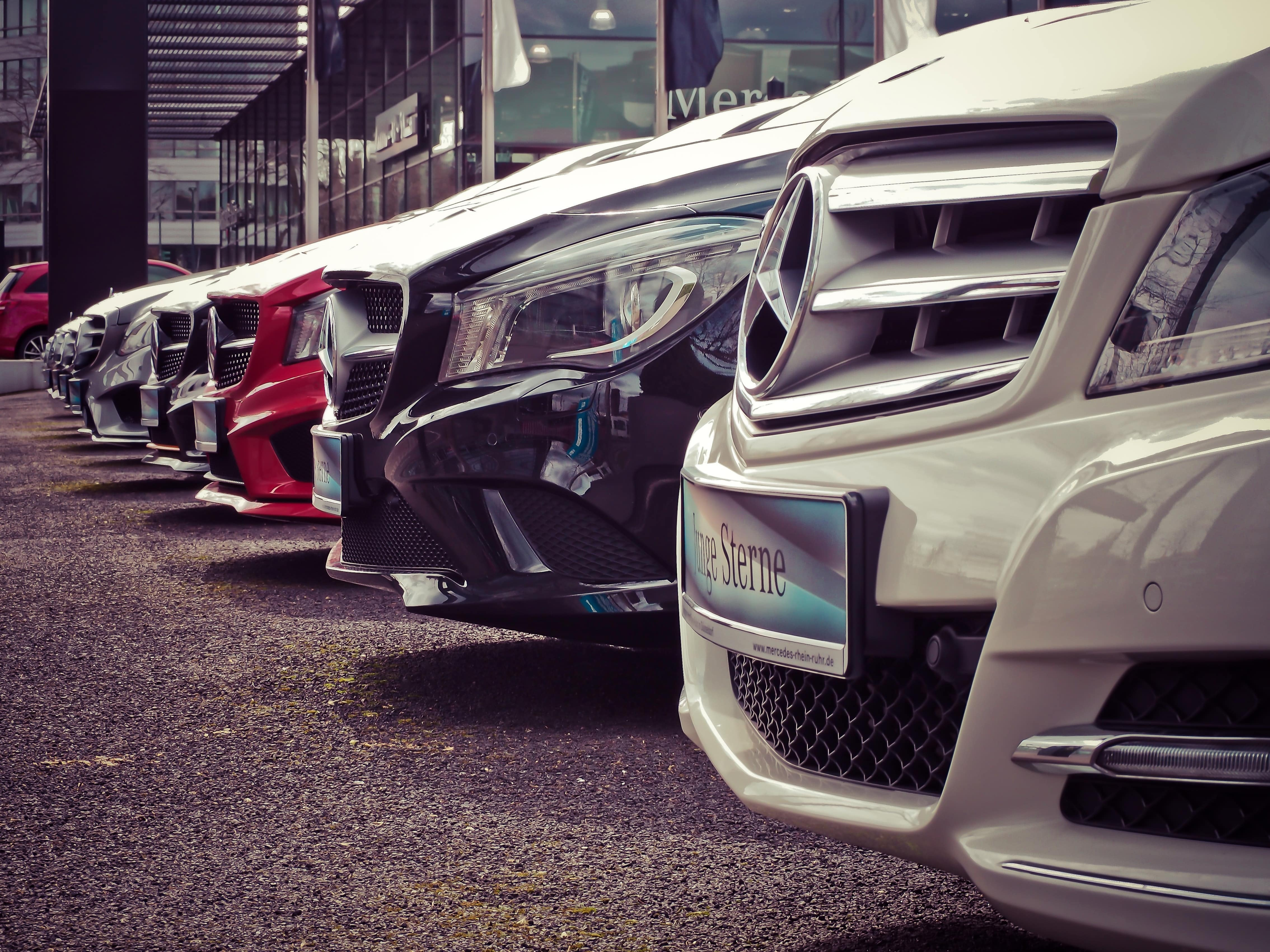Row of Cars, Vehicles, Mercedes-Benz