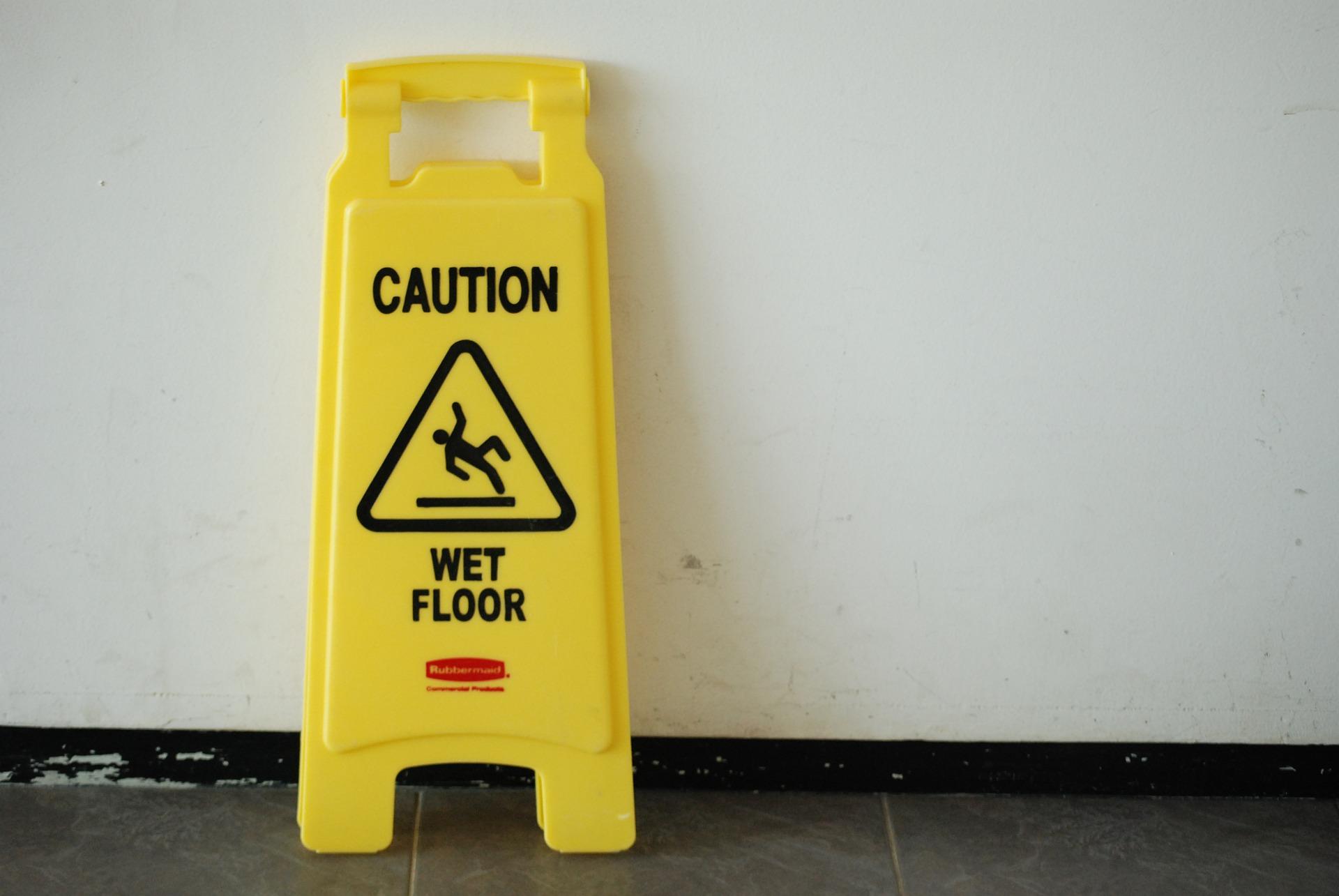 Wet Floor Sign, Caution, Warning