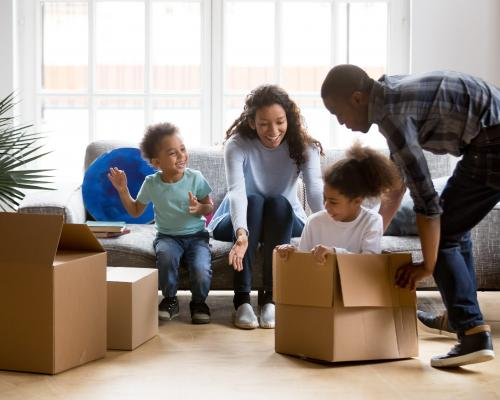 Family, Moving, Packing, Boxes
