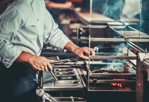 Cooking, Restaurant Kitchen, Chef,  Fire Safety
