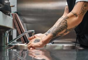 Sink, Water, Washing Hands
