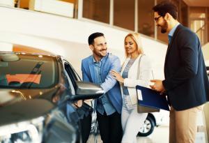 Couple, Salesman, Car, Woman, Man