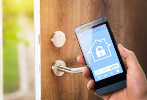 Home security, lock, home, cellphone