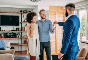 Home Buying, First-Time Home Buyers, Couple, Keys