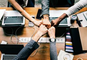 Fist Bump, Teamwork, Collaborating