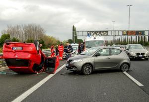 Car accident, crash, collision
