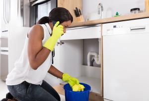 Water Leak, Home Maintenance, Woman