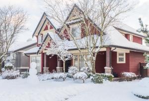 Home, Winter, Snow, Snowman