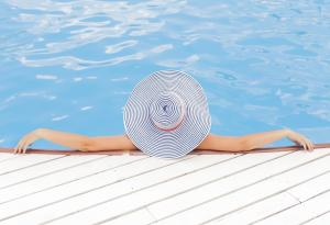 Poolside, Vacation, Summer, Relaxing, Beach Hat