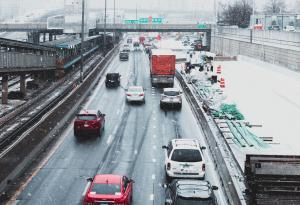 Roadway, Vehicles, Highway, Winter Driving